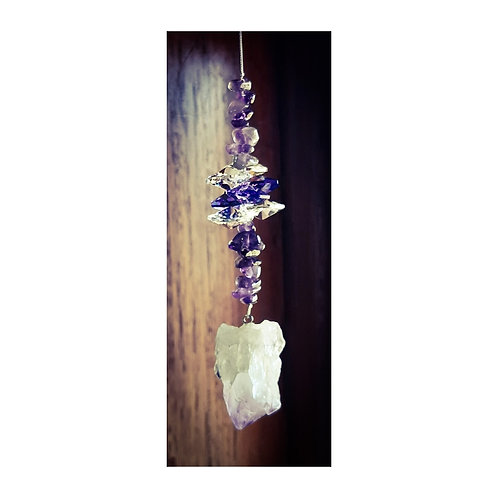 Natural Stone Sun Catcher - Amethyst