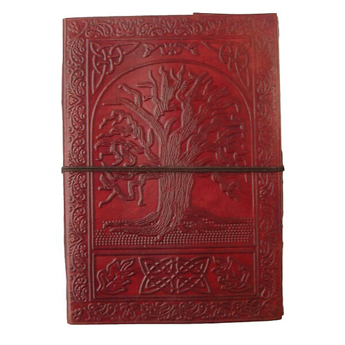 Large Leather Journal - Tree Of Life