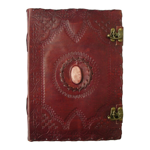 Large Leather Journal - One Stone With Clasp