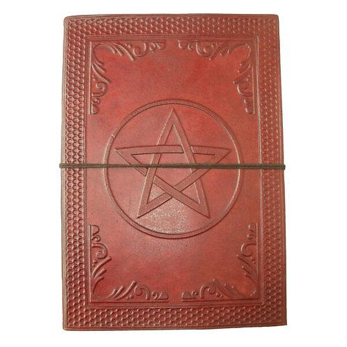 Large Leather Journal - Pentagram