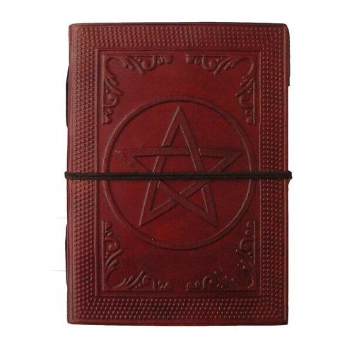 Medium Leather Journal - Pentagram