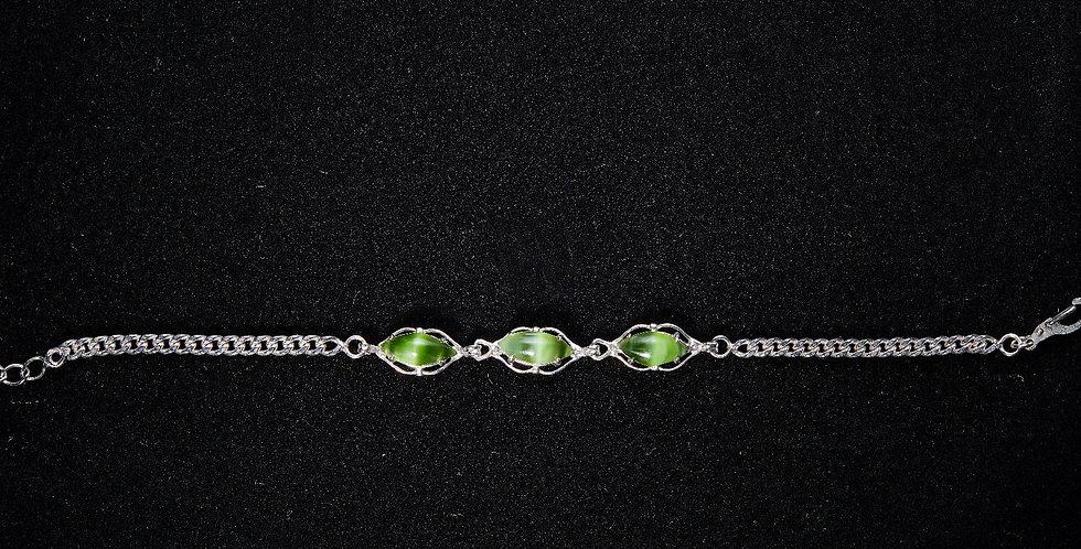 Cat's Eye Jade bracelet