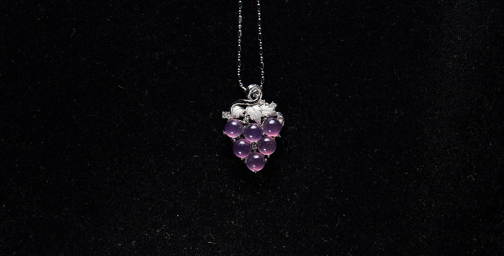 Purple Chalcedony Necklace