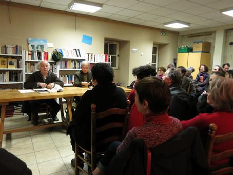 22 février 2013 / Rencontre littéraire à la Salle Prunelière de Candes-Saint-Martin