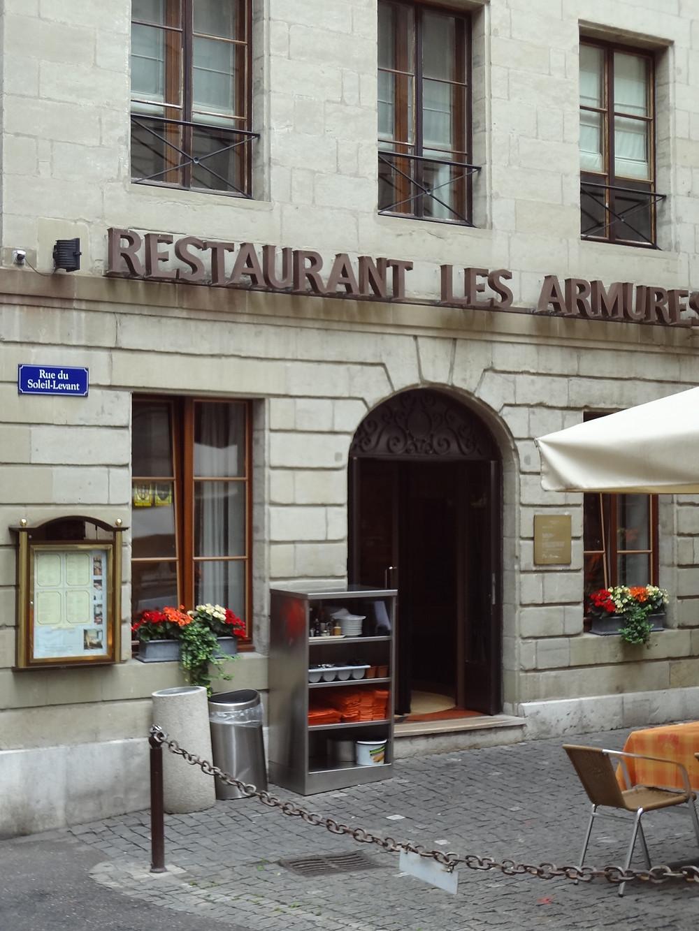 Restaurant Les Armures à Genève