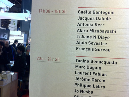 18 mars 2011/ Le Salon du Livre à Paris, porte de Versailles.