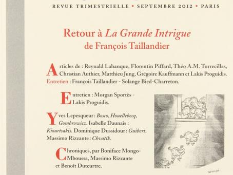 Publication de « L'île du bonheur entre le français et le japonais » dans L'Atelier du Roman, no 71.