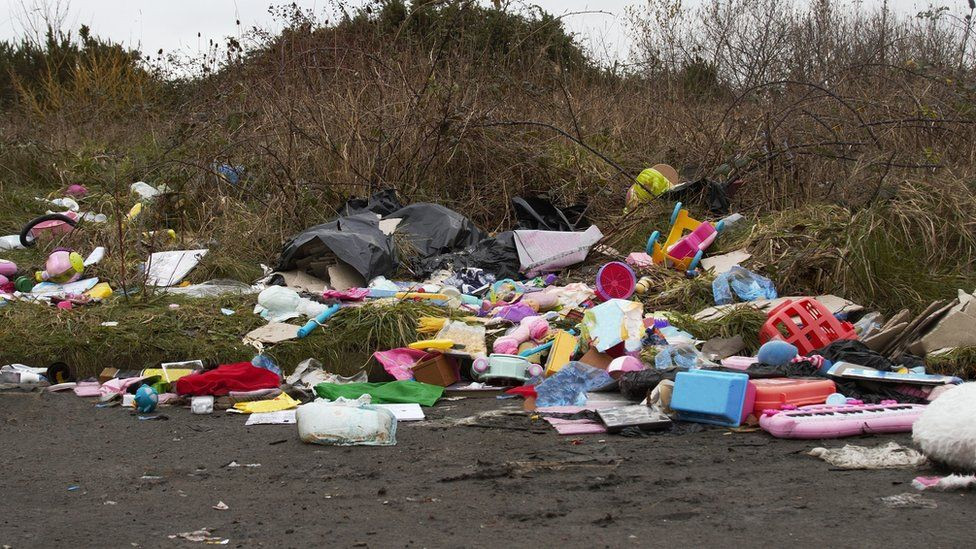 Rubbish dumped leads to heafty fines