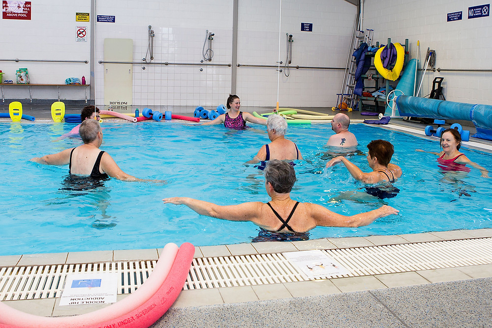 Hydrotherapy class at Newcastle Aquatic.
