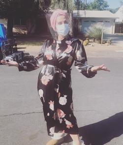 "Lori Alan on the set of 'The Rookie"" on ABC"