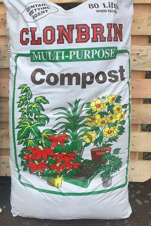 Clonbrin Peat Compost 80L