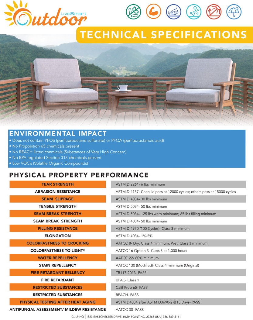 LiveSmart Outdoor Technical Specification