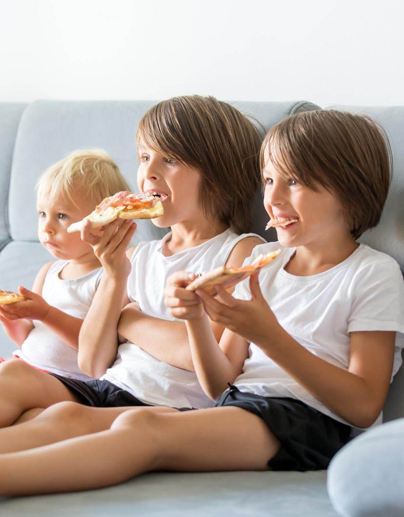 LiveSmart Barrier+ Kids Eating Pizza