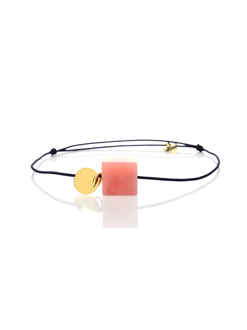 BRACELET QUARTZ ROSE 18K | AMOUR