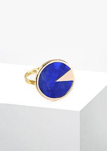 Or18k et Sodalite Bleue Bague Montera Co