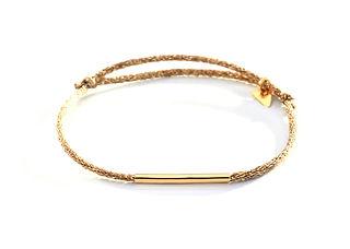 Bracelet Le Tube Motche. Or 18K. Cordon