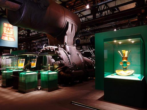 L'exposition «Inca. Or. Pouvoir. Dieu» au Patrimoine Culturel Mondial Völklinger Hütte, Allemagne.