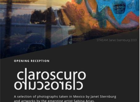 CLAROSCURO, artworks by Janet Sternburg & Sabina Arias
