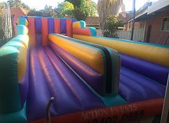 Bungee Run bouncy castle  perth cheap bouncy castle hire Swan Valley Castle Hire Ellenbrook bouncy castles