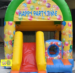 Happy party time mini slide combo bouncy castle hire perth cheap perth bouncy castles Swan Valley Castle Hire Ellenbrook bouncy castles
