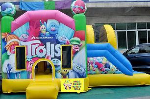Trolls side slide bouncy castle hire Perth cheap bouncy castles Swan Valley Castle Hire Ellenbrook bouncy castles