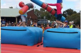 Jousting Gladiator Duel bouncy castle  perth cheap bouncy castle hire Swan Valley Castle Hire Ellenbrook bouncy castles