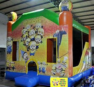 Minions large combo bouncy castle hire perth cheap bouncy castles Swan Valley Castle Hire Ellenbrook bouncy castles