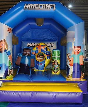 Minecraft mini combo bouncy castle hire perth cheap bouncy castle perth Swan Valley Castle Hire Ellenbrook bouncy castles