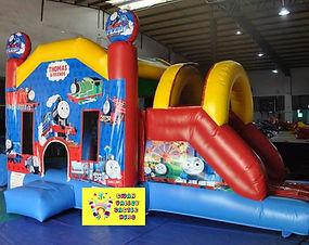 Thomas side slide bouncy castle hire Perth cheap bouncy castles Swan Valley Castle Hire Ellenbrook bouncy castles