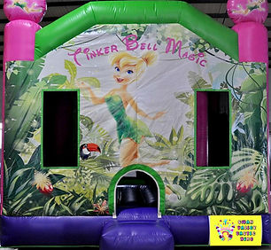 Tinkerbell large combo bouncy castle hire perth cheap bouncy castles Swan Valley Castle Hire Ellenbrook bouncy castles