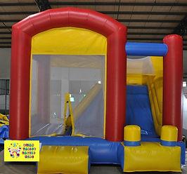 Colorful mini slide combo bouncy castle hire perth cheap bouncy castle hire Swan Valley Castle Hire Ellenbrook bouncy castles