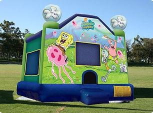 Spongebob bouncy castle hire perth cheap perth bouncy castle Swan Valley Castle Hire