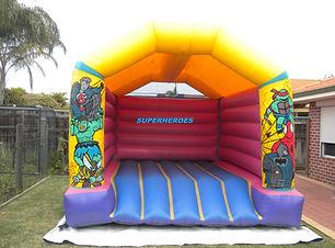 Teen Superheroes bouncy castle for adults cheap perth bouncy castle hire Swan Valley Castle Hire Ellenbrook bouncy castles