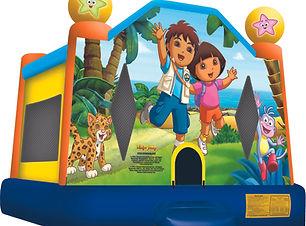 Dora and Diego bouncy castle cheap bouncy castle hire perth Ellenbrook bouncy castles