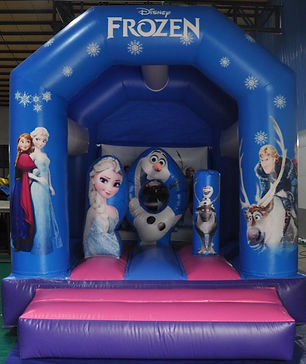 Frozen mini combo bouncy castle perth cheap bouncy castle hire Swan Valley Castle Hire Ellenbrook bounc castles Frozen bouncy castle