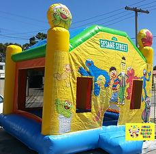Sesame Street bouncy castle hire perth cheap perth bouncy castles Swan Valley Castle Hire