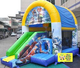 Jurassic World Lego mini slide combo bouncy castle hire perth cheap bouncy castles hire Swan Valley Caste Hire Elenbrook bouncy castles