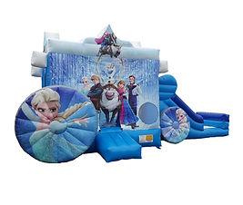Frozen Carriage side slide bouncy castle hire Perth cheap bouncy castles Swan Valley Castle Hire Ellenbrook bouncy castles