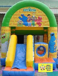 Sesame Street mini slide combo bouncy castle hire perth cheap bouncy castle hire Swan Valley Castle hire Ellenbrook bouncy castles