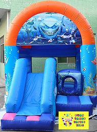Finding Nemo/Dory mini slide combo bouncy castle hire perth cheap jumping castle perth Swan Valley Castle Hire Ellenbrook bouncy castles