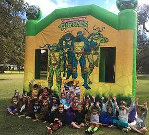 Turtles large combo bouncy castle hire perth cheap bouncy castles Swan Valley Castle Hire Ellenbrook bouncy castles