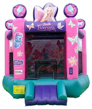 Barbie Fairytopia bouncy castle hire Perth Cheap bouncy castles perth Ellenbrook bouncy castle Swan Valley Castle Hire