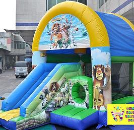 Madagascar mini slide combo bouncy castle hire perth cheap bouncy castle hire Swan Valley Castle Hire Ellenbrook bouncy castles