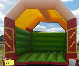 Giant Lightning Bolt bouncy castle for adults cheap perth bouncy castle hire Swan Valley Castle Hire Ellenbrook bouncy castles