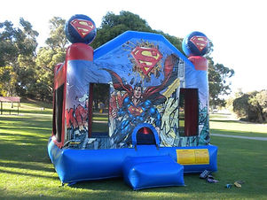Superman bouncy castle hire perth cheap bouncy castle hire perth Swan Valley castle hire