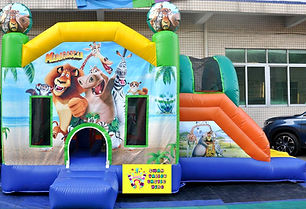 Madagascar side slide bouncy castle hire Perth cheap bouncy castles Swan Valley Castle Hire Ellenbrook bouncy castles