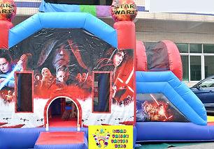 Star Wars side slide bouncy castle hire Perth cheap bouncy castles Swan Valley Castle Hire Ellenbrook bouncy castles