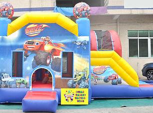 Blaze side slide bouncy castle hire Perth cheap bouncy castles Swan Valley Castle Hire Ellenbrook bouncy castles