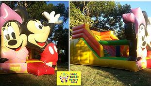 Minnie Mickey slide bouncy castle  perth cheap bouncy castle hire Swan Valley Castle Hire Ellenbrook bouncy castles
