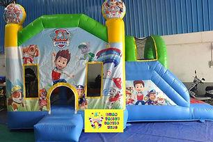 Paw Patrol side slide bouncy castle hire Perth cheap bouncy castles Swan Valley Castle Hire Ellenbrook bouncy castles
